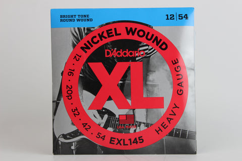 D'Addario EXL145 Nickel Wound Electric Strings – Heavy 12-54