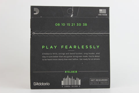 D'Addario NYXL0838 Nickel Wound Electric Strings - Extra Super Light 8-38