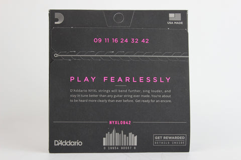 D'Addario NYXL0942 Nickel Wound Electric Strings - Super Light 9-42