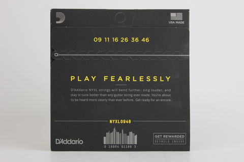 D'Addario NYXL0946 Nickel Wound Electric Strings - Super Light Top/Regular Bottom 9-46