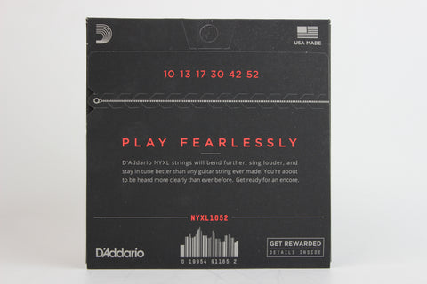 D'Addario NYXL1052 Nickel Wound Electric Strings - Light Top/Heavy Bottom 10-52