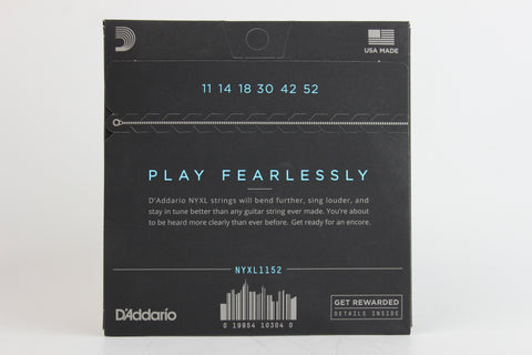 D'Addario NYXL1152 Nickel Wound Electric Strings - Medium Top/Heavy Bottom 11-52