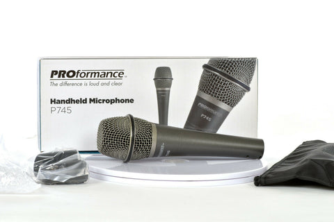Proformance P-745 Supercardioid Dynamic Handheld Microphone