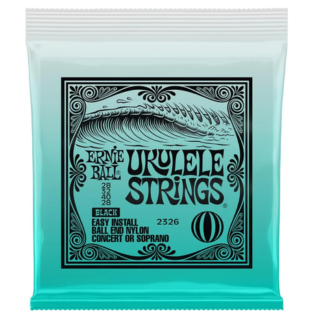 Ernie Ball 2326 Concert/Soprano Nylon Ball End Ukulele Strings - Black