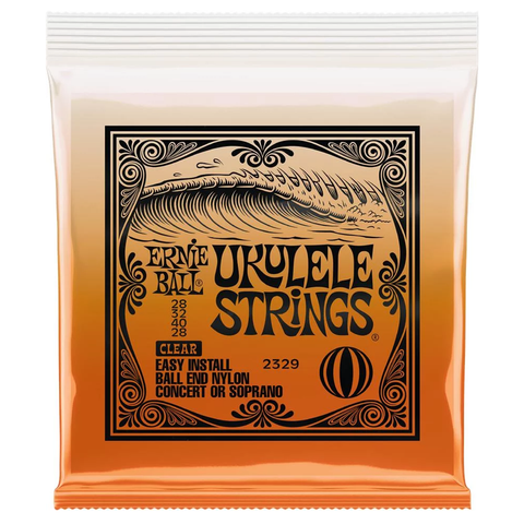 Ernie Ball 2329 Concert/Soprano Nylon Ball End Ukulele Strings - Clear