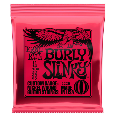 Ernie Ball 2226 Burly Slinky Nickelwound Electric Guitar Strings, 11-52
