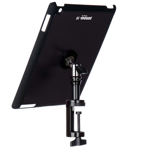 On-Stage IPad Snap-On Cover w/ Table Clamp, Black : TCM9163B