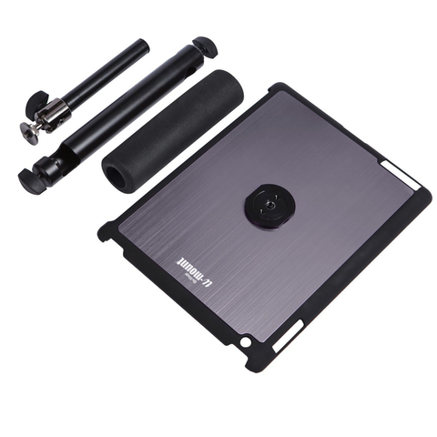On-Stage TCM9160 Tablet Mount with Snap-On Cover for iPad 2/3/4, Gun Metal