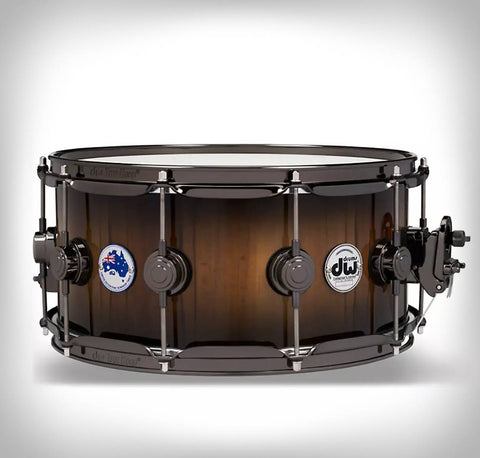 "DW Collector's Exotic Tasmanian Snare Drum - 6.5""x14"""