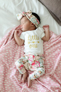 Baby Outfit - Coming Home Set - Floral Garden