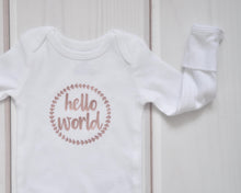 Baby Outfit - Coming Home Set - Metallic Peony