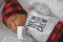 Baby Outfit / Coming Home Outfit - New to the Crew Buffalo Plaid