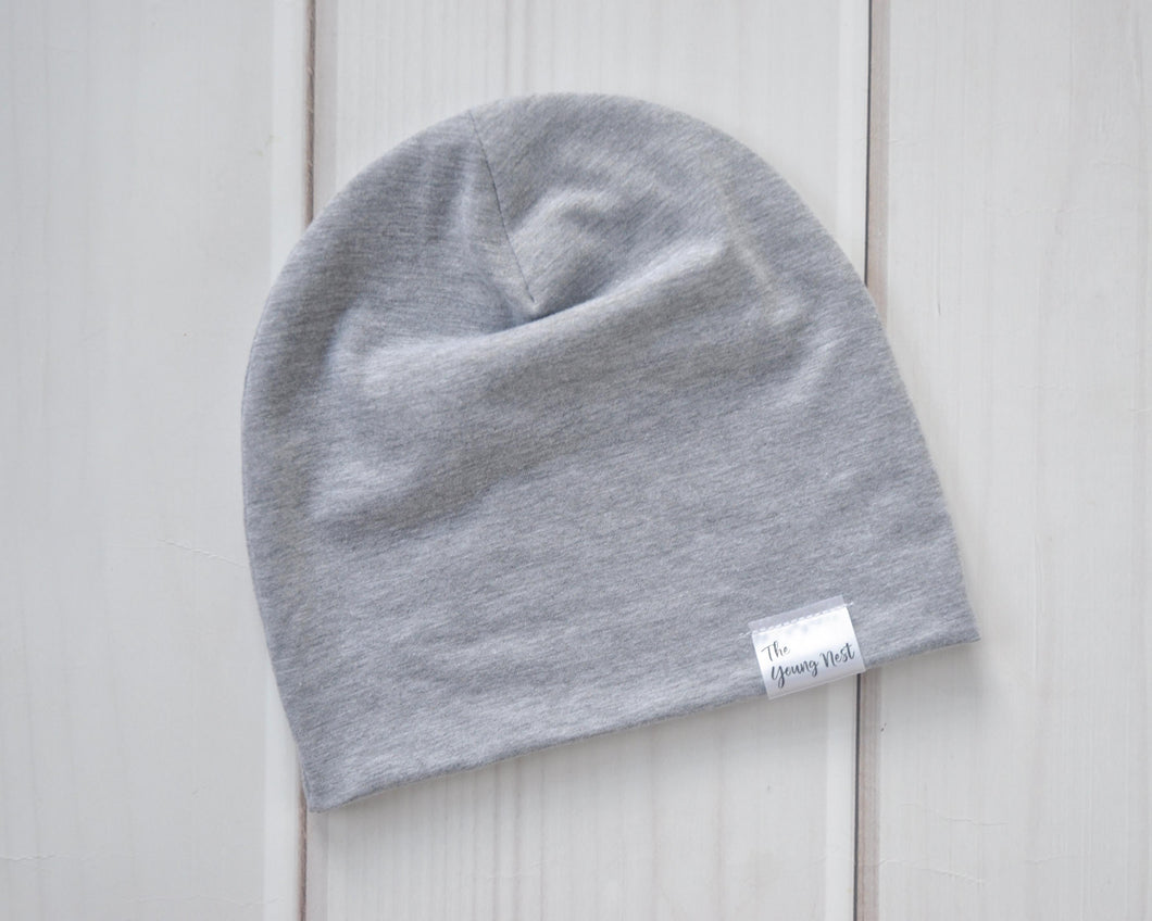 Slouchy Beanie - Heather Grey