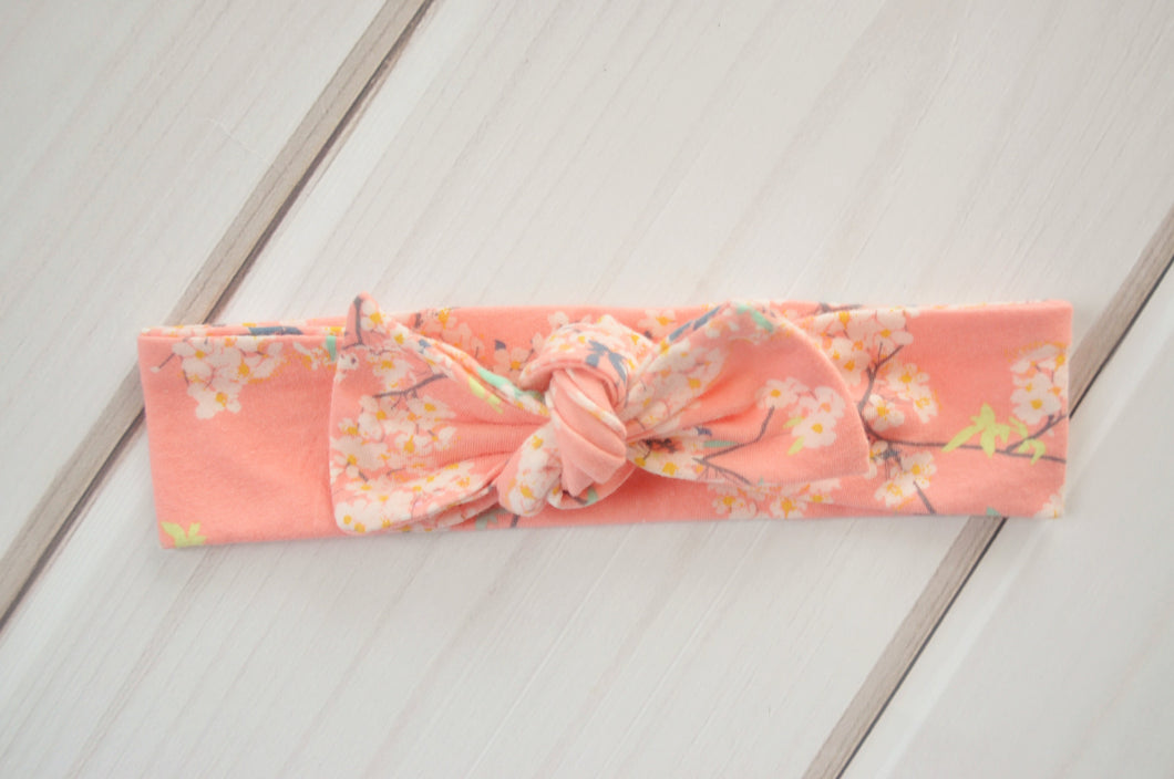 Top Knot Headband - Cherry Blossoms