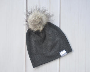 Slouchy Beanie - Charcoal Grey