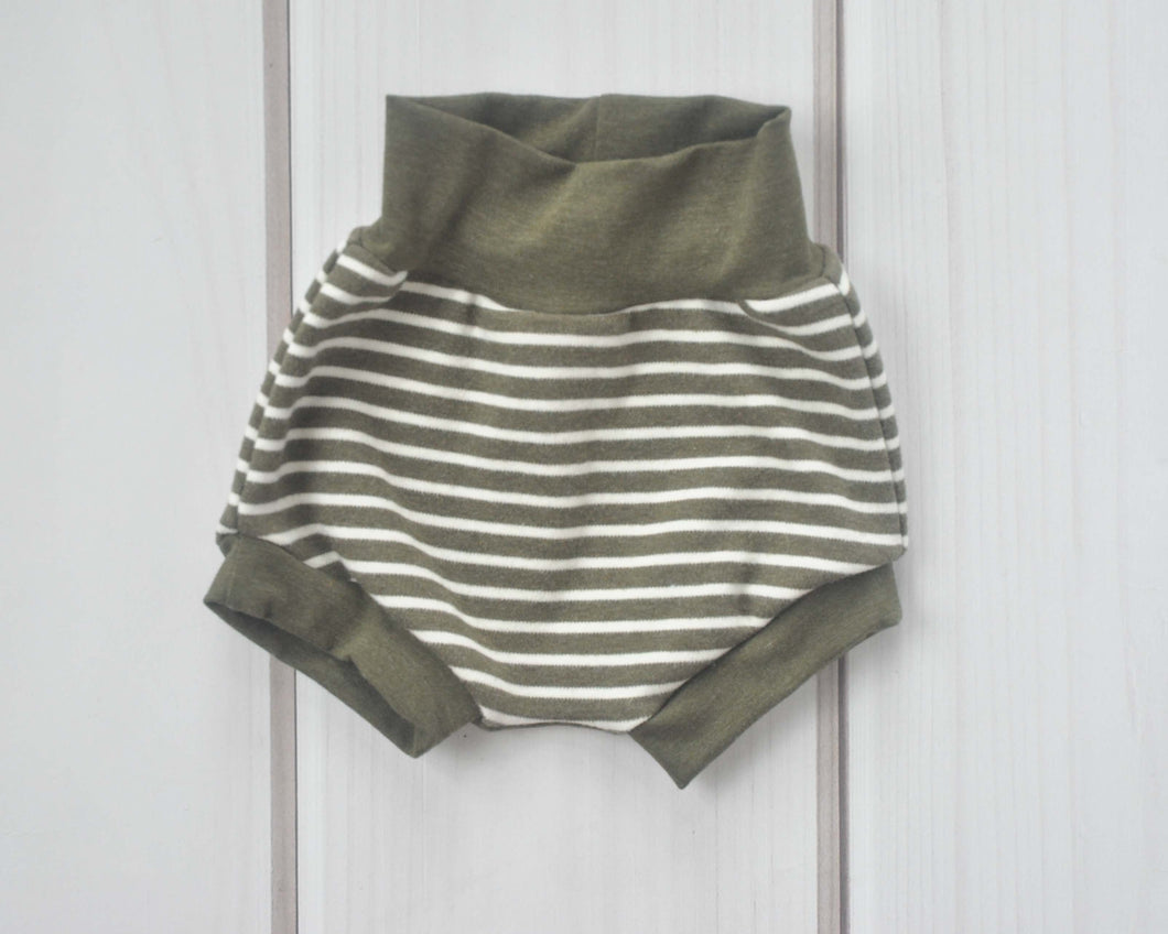 Bummies - Olive Green Stripe