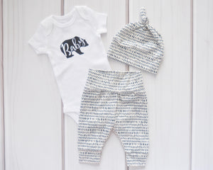 Baby Outfit - Coming Home Set - Baby Bear