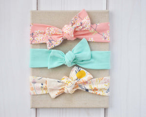 Set of Top Knot Headbands