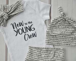 Baby Outfit - Coming Home Set - Personalized Crew