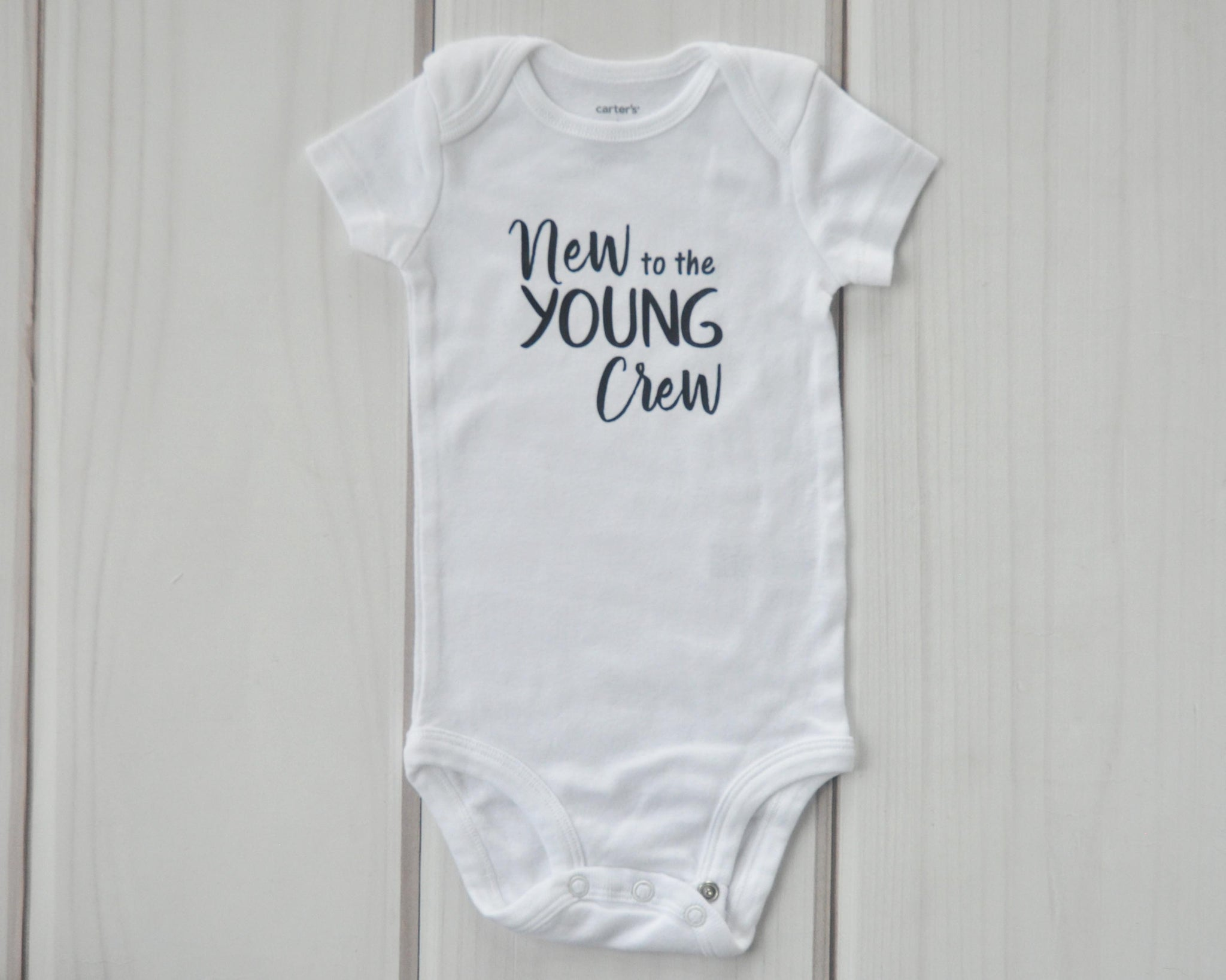 personalized new to the crew neutral coming home outfit gender