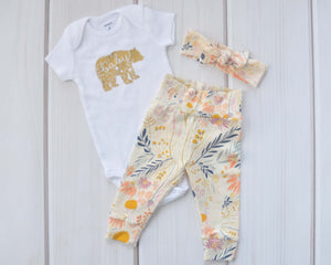 Baby Outfit - Coming Home Outfit - Wispy Floral