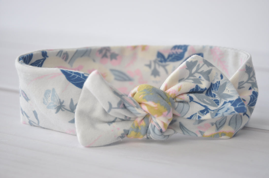 Top Knot Headband - Wild Posy