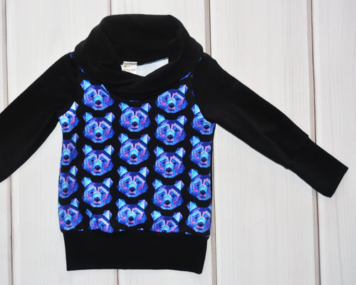 Grow with Me Cowl Neck Sweater - Cosmic Bears
