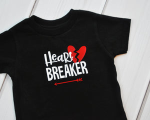 Graphic T - Heart Breaker - Black