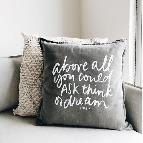 Above All | Throw Pillow Cover