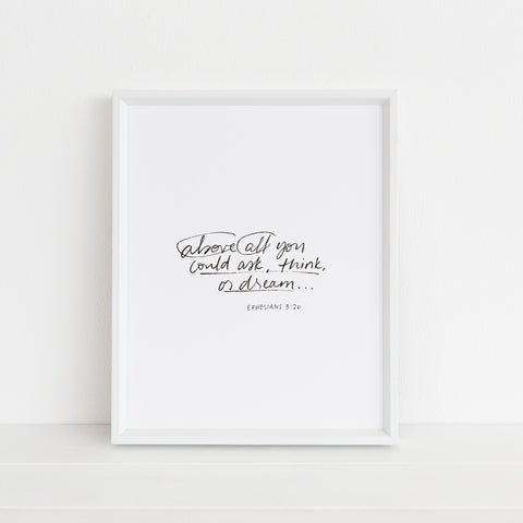 *NEW* Above All | Art Print