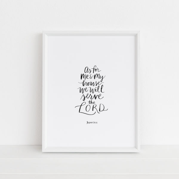 *LAST CHANCE* As For Me and My House | Art Print