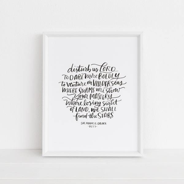 Dare More Boldly | Art Print