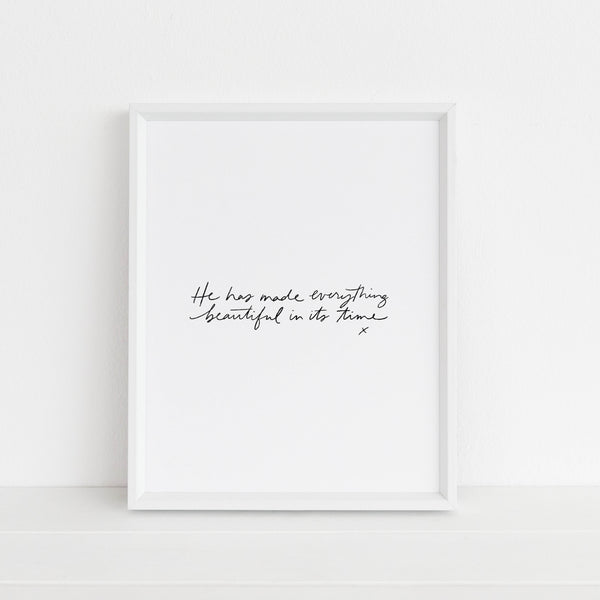 Everything Beautiful (white) | Art Print