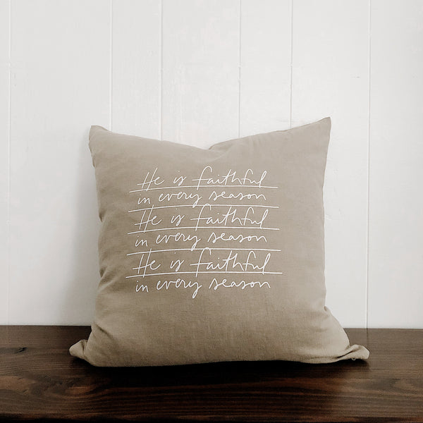 He Is Faithful | Throw Pillow Cover