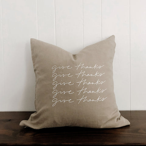 Give Thanks | Throw Pillow Cover