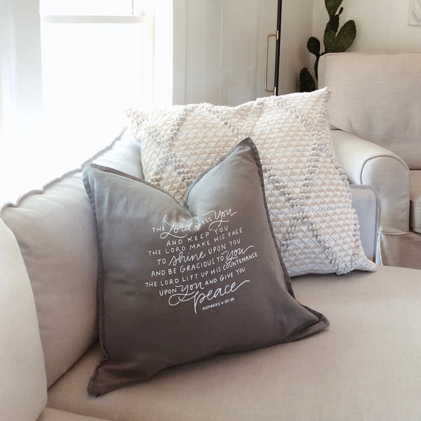 The Lord Bless and Keep You | Throw Pillow Cover