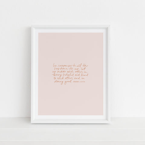 Outdo Each Other With Kindness | Art Print