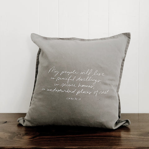 Peaceful Dwellings | Throw Pillow Cover