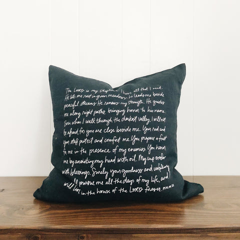 Psalm 23 (midnight navy) | Throw Pillow Cover