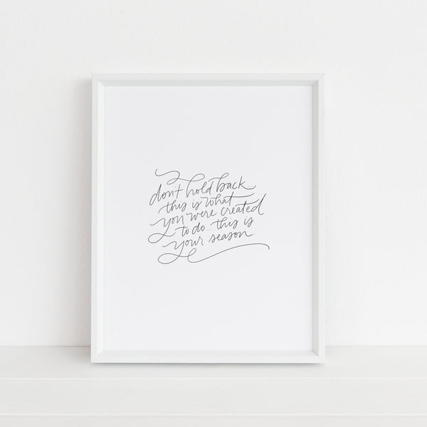 This Is Your Season | Art Print