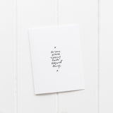 "Do Some of Those ""Crazy Faith Required"" Things 