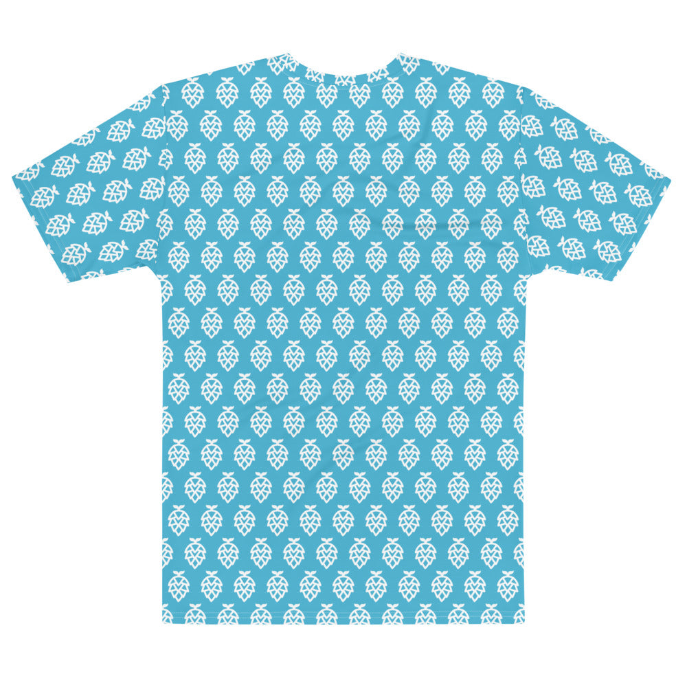 Teal Whale Hop Pattern Summer Tee