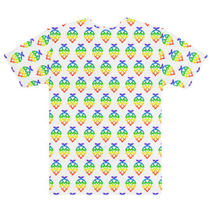 Rainbow Whale Hop Pattern V-Neck Tee