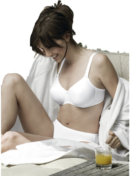 Prima Donna Full Cup Luxury Satin Bra - White