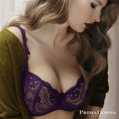 Prima Donna Midnight in Paris Balconnet Bra - Purple Romance 0162614-0162615