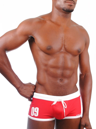Wildmant Jersey Swim Trunks - Red