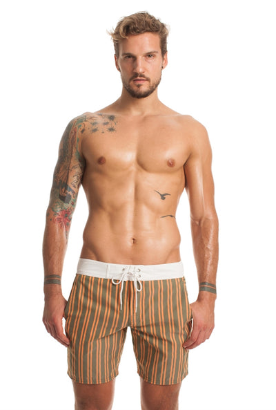 Mr. Turk San Simeon Board Short - Olive
