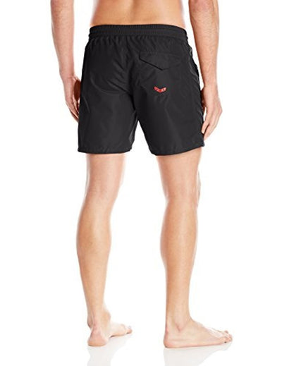 Diesel Men's Wave-E Mohican Logo Swim Short 00SMNK0KAKX - Black