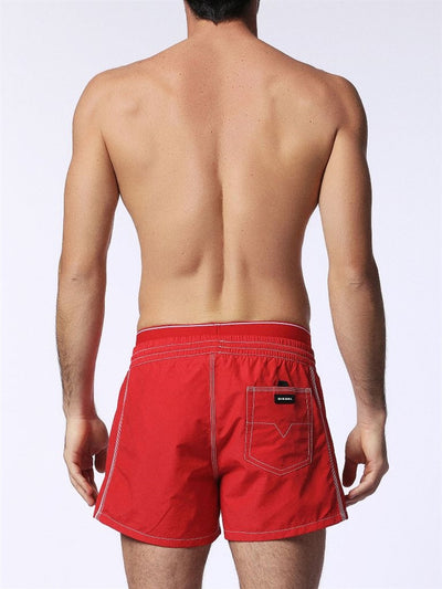 Diesel Men's Seaside 2.017 Swim Short 00SV9RAKAKY - Red/White