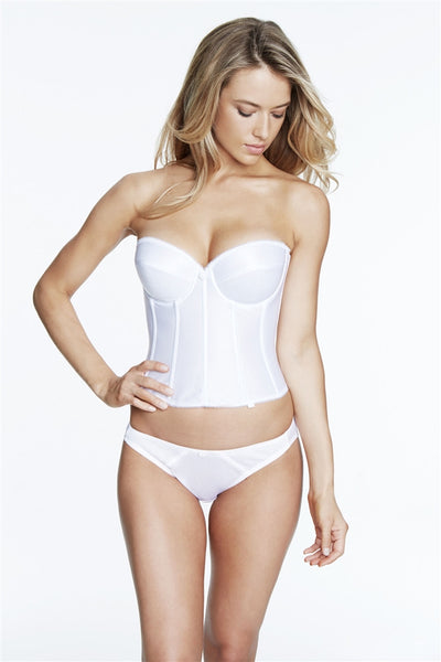 Dominique Satin Longline Bridal Bra
